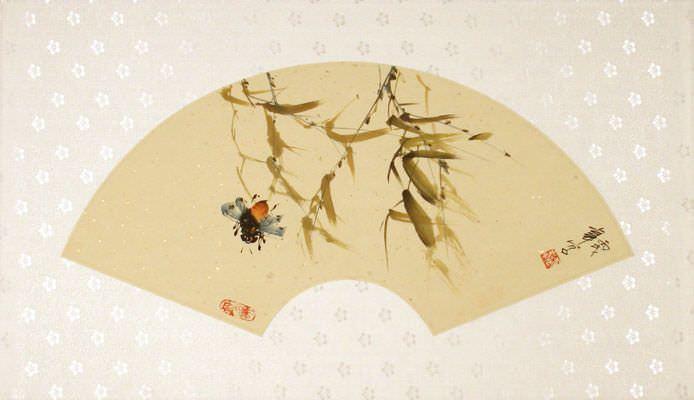 Fan-Style Bee Painting