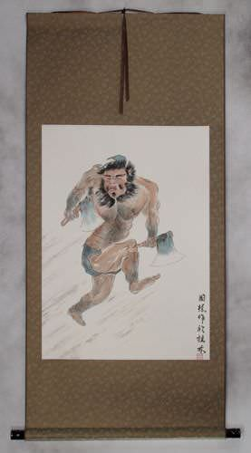 Ancient Chinese Warrior Li Kui - The Black Tornado - Wall Scroll