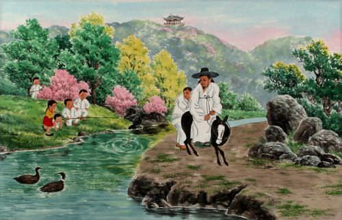 North Korean Simple Life Artwork
