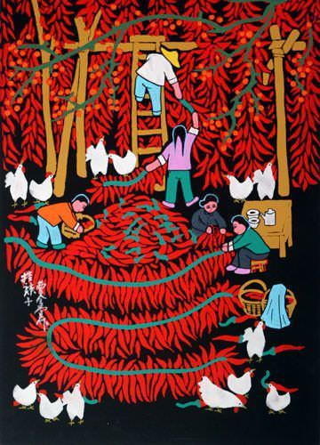 Red Hot Chili Peppers - Folk Art Painting