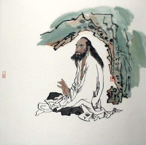 "See how ""Da Mo / Bodhidharma Meditation Painting"" would look after being professionally framed"