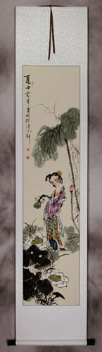 Song of Summer - Young Chinese Girl - Wall Scroll