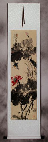 Bird And Lotus Flowers Wall Scroll Birds Amp Flowers Wall