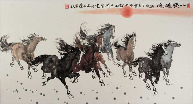 Chinese horse paintings