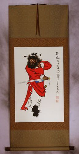 Zhong Kui - Demon Warrior Wall Scroll