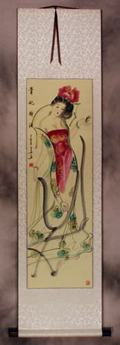 The Drunken Beauty - Chinese Wall Scroll