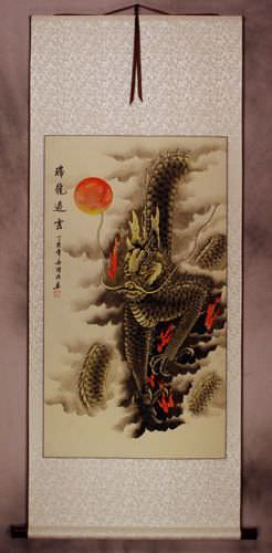 Dragon of the Clouds Wall Scroll