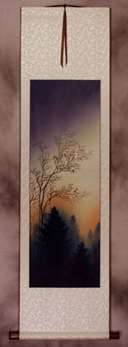 Twilight Birds Song - Wall Scroll