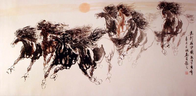 Galloping - Chinese Painting