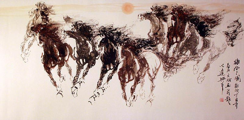 Heroic Wind - Chinese Horse Painting