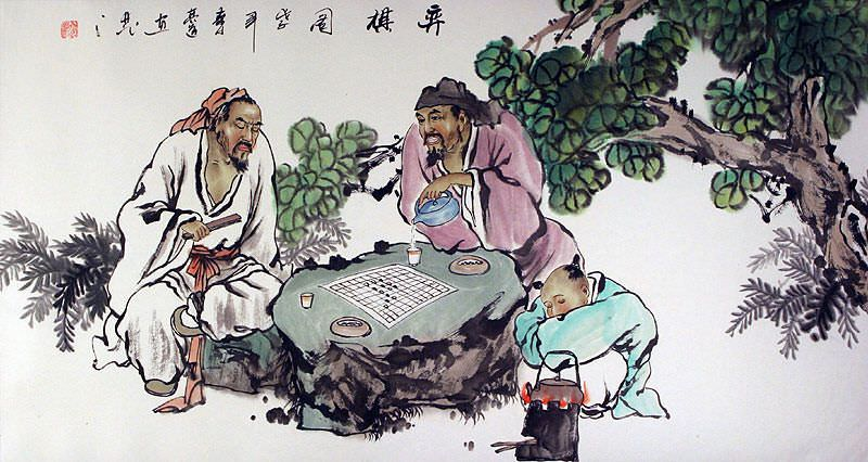 Old Chinese Chess - Ancient Style Painting