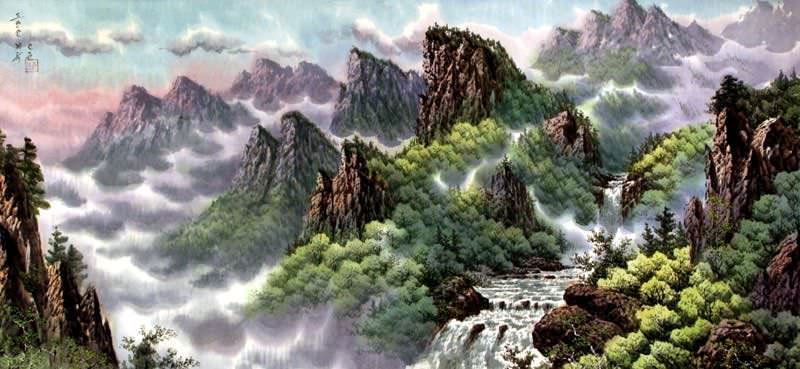 North Korean Landscape Painting