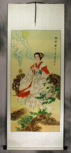 Diao Chan - Famous Beauty of Ancient China - Wall Scroll