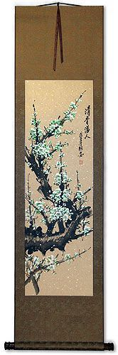 Green Plum Blossom Wall Scroll