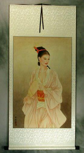 Beautiful Woman - Contemporary Chinese Art Wall Scroll
