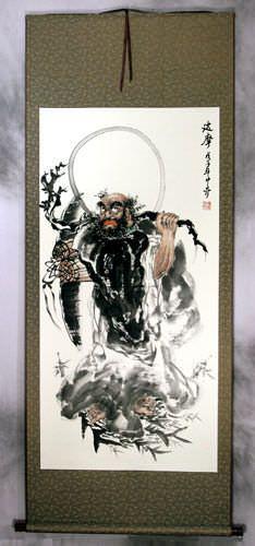 Da Mo / Bodhidharma / Buddha Crosses the River - Wall Scroll