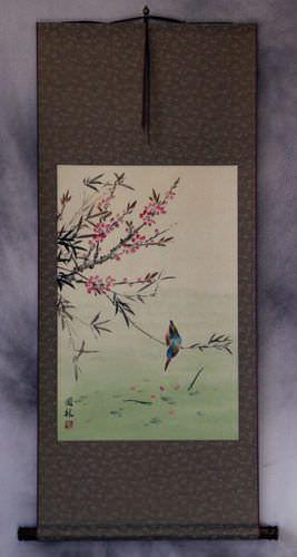Bird & Flower - Asian Art Wall Scroll