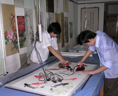Bonding/Mounting Asian artwork to more sheets of xuan paper (rice paper)