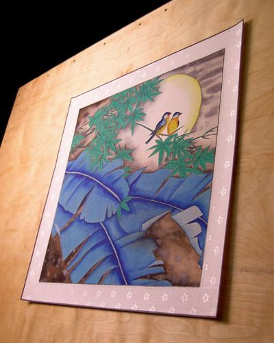 Here is the ready-to-frame Asian watercolor painting