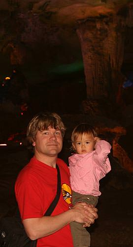 Kaili in the caves of Guilin