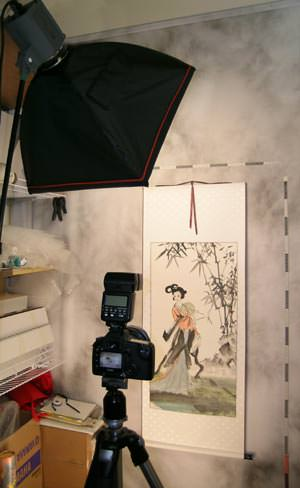 Our new Asian art photo studio in San Diego