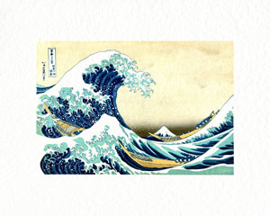 16 x 20 version ofthe Great Wave print