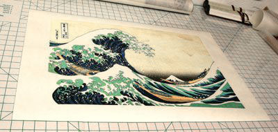 Overall view of the Great Wave print