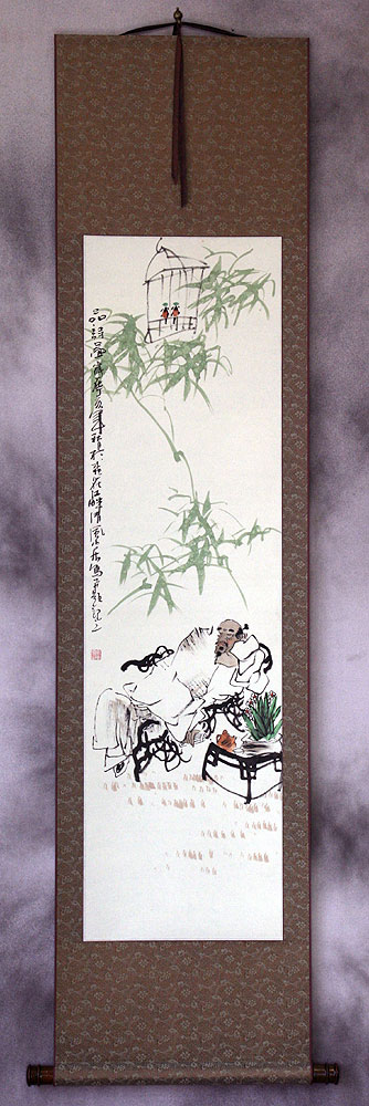 Enjoying Good Poetry - Wall Scroll