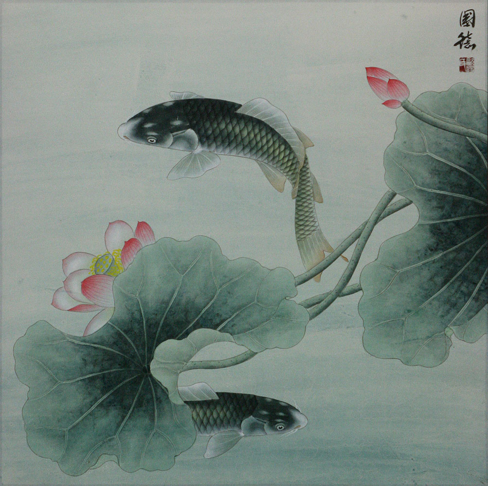 Big Fish and Flower Painting
