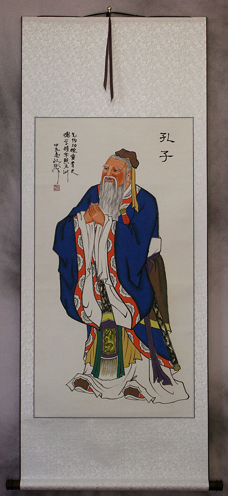 Confucius - The Great Teacher - Wall Scroll