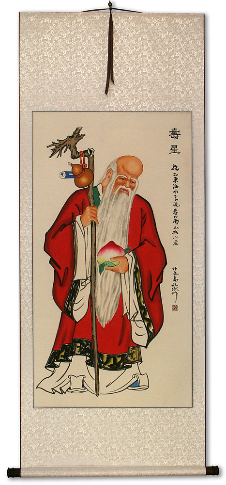 God of Longevity - Chinese Wall Scroll