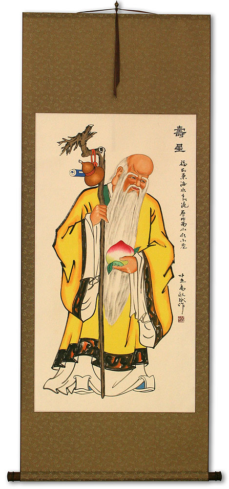 Longevity Saint Chinese Scroll