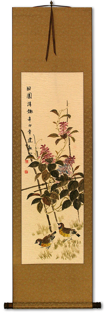 Everyday is Fun at the Ranch - Chinese Wall Scroll
