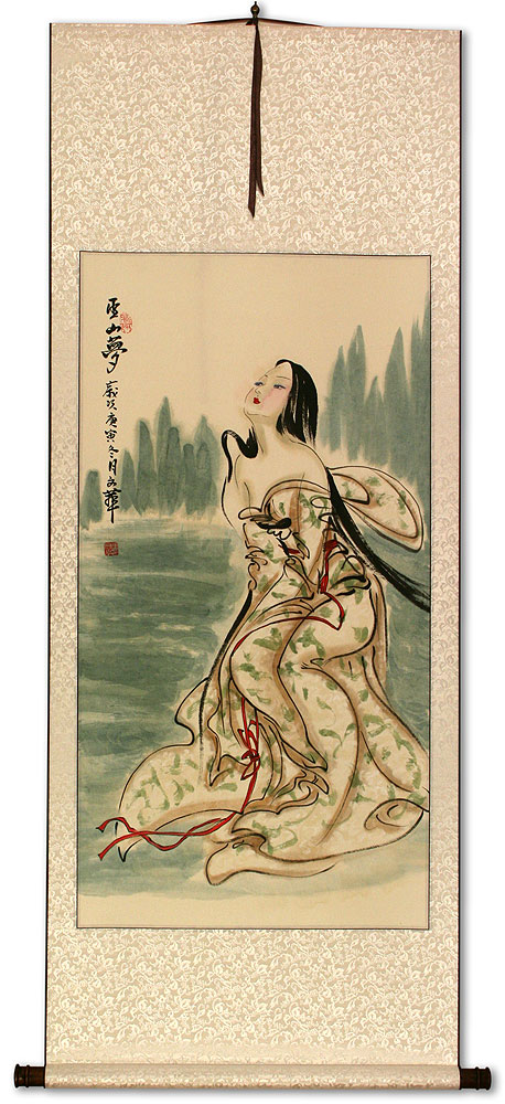 Wu Mountain Dreams - Beautiful Woman - Chinese Wall Scroll