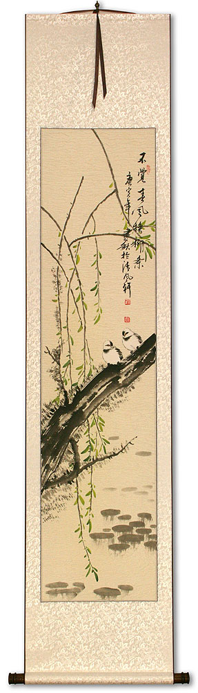 Willow Tree in the Spring - Wall Scroll