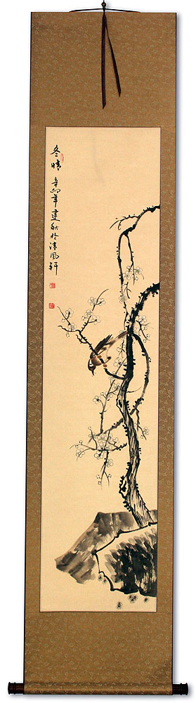 Clear Winter - Plum Blossom - Chinese Wall Scroll