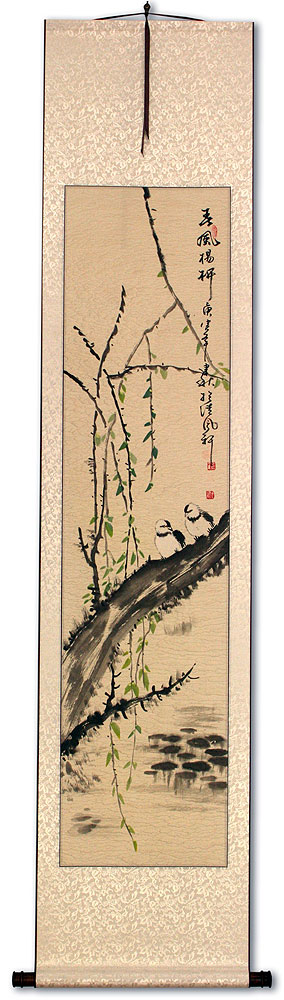 Willow Tree in the Spring - Chinese Wall Scroll