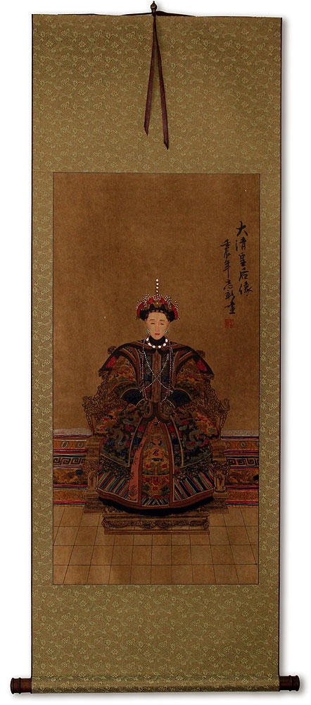 Empress Ancestor of China - Partial-Print Wall Scroll