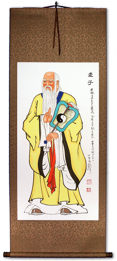 Wise Laozi / Lao Tzu Wall Scroll