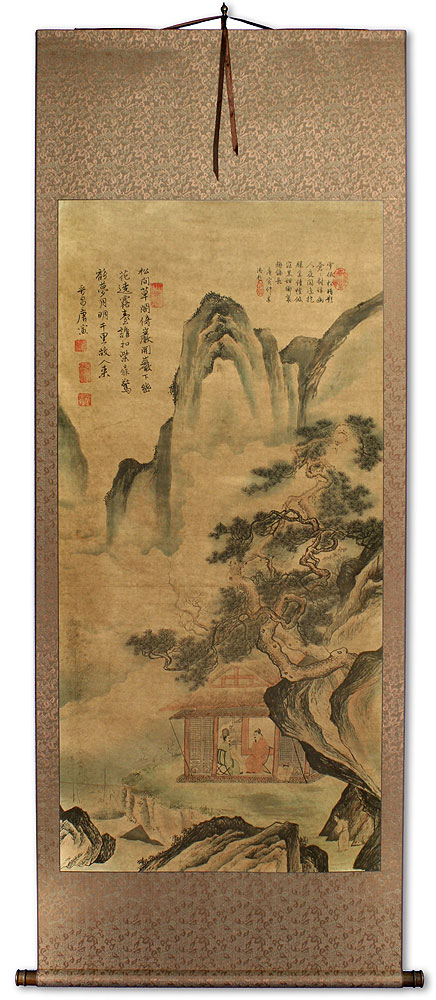 Serene Place - Chinese Landscape Print Wall Scroll