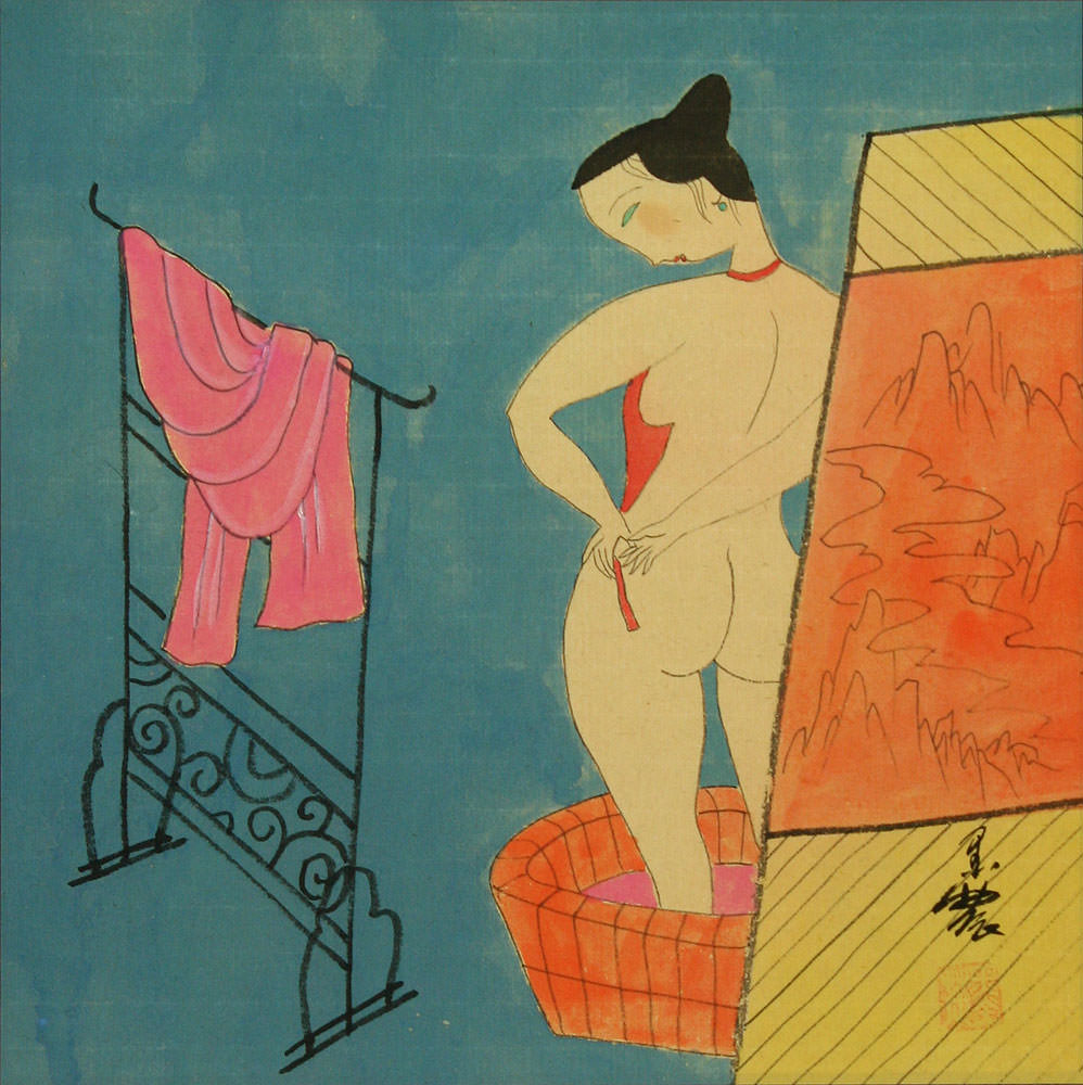 Lady in the Bath - Asian Modern Art Painting