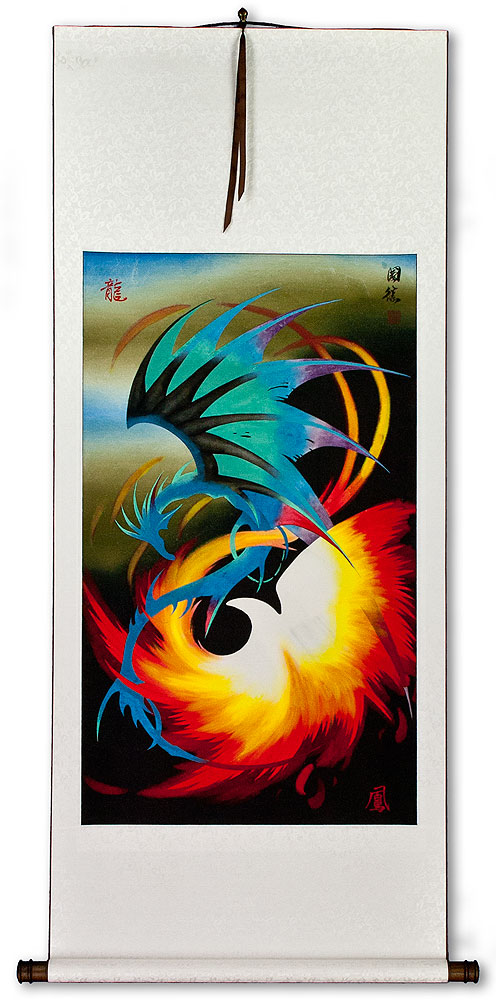 Dragon and Phoenix Wall Scroll