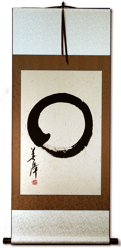 Japanese Enso Calligraphy Wall Scroll