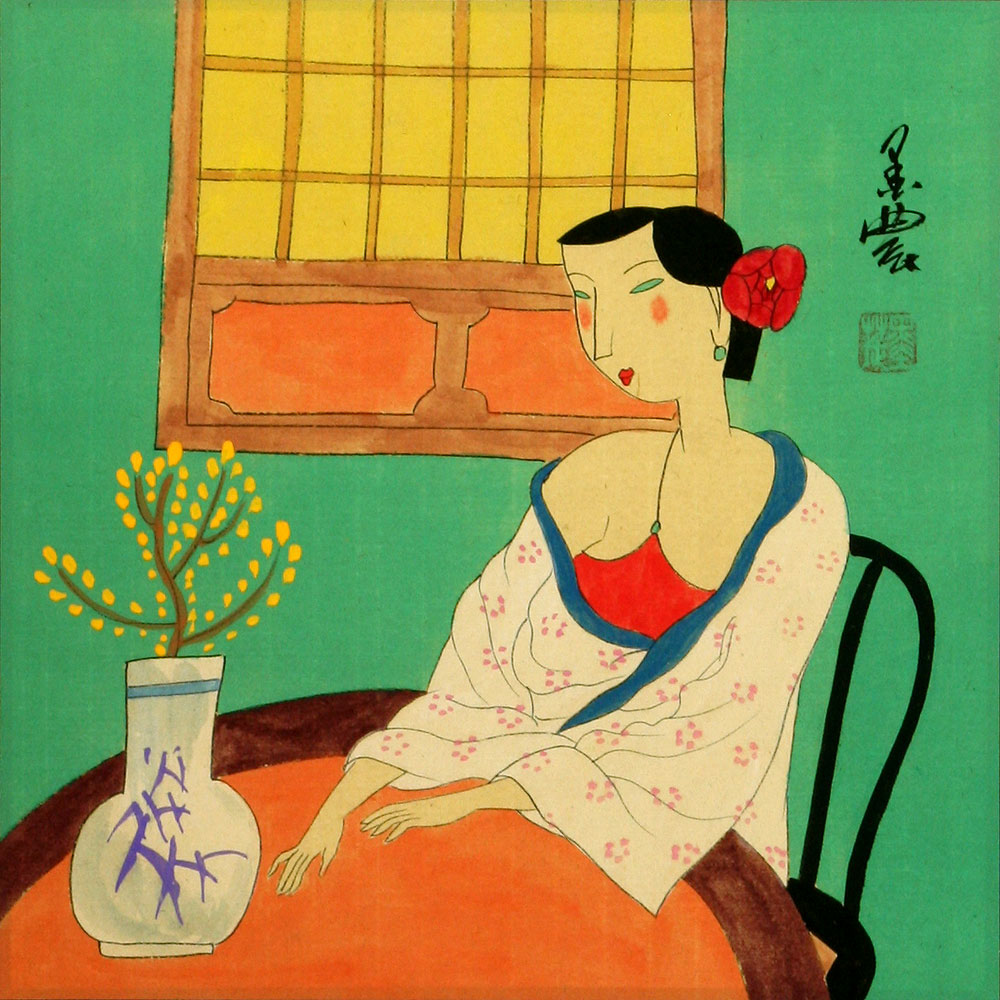 Lady in Waiting - Modern Art Painting