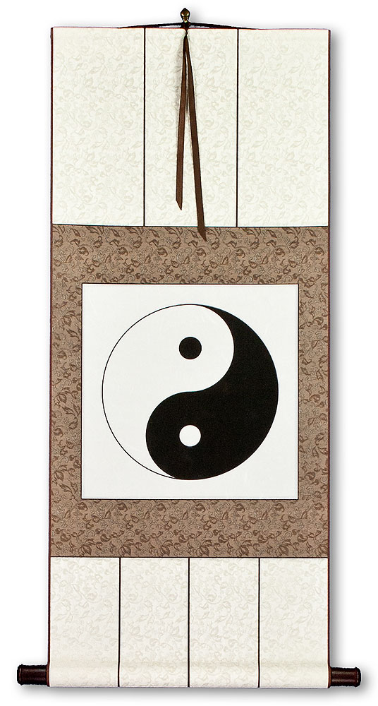 Yin Yang Print Wall Scroll