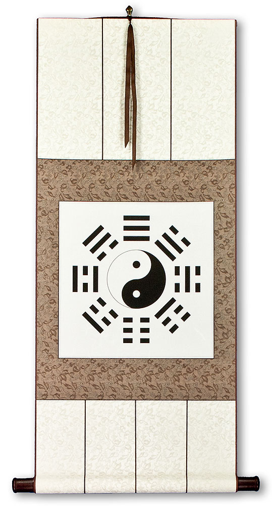 Ba Gua Yin Yang Symbol Chinese Wall Scroll Chinese