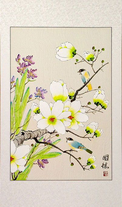 Bird & Flower Painting