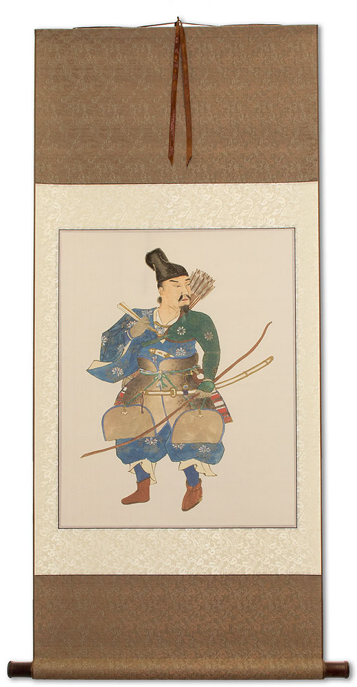 Japanese Samurai Archer Warrior - Large Wall Scroll