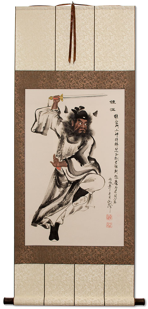 Zhong Kui Ghost Warrior of China Wall Scroll
