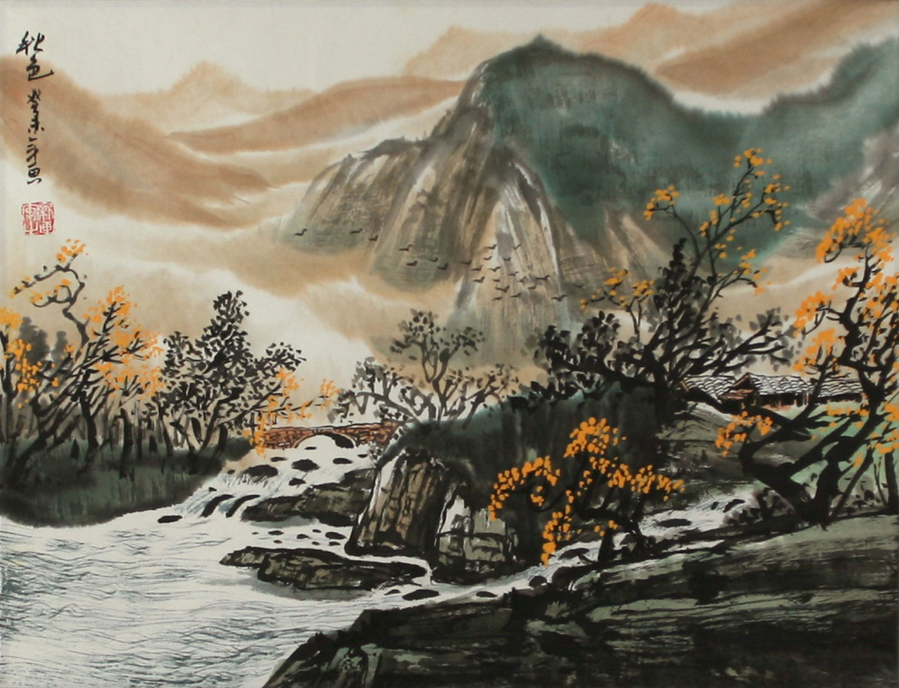 chinese autumn landscape painting landscapes of asia paintings